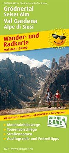 Grödnertal, Seiser Alm / Val Gardena, Alpe di Siusi: Wander- und Radkarte mit Ausflugszielen & Freizeittipps, wetterfest, reißfest, abwischbar, GPS-genau. 1:35000 (Wander- und Radkarte: WuRK)