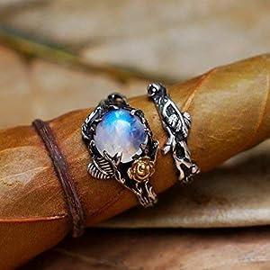 Elvyn Fantasy Moonstone Ring - Set of 2