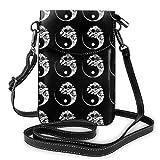 XCNGG bolso del teléfono Soft PU Leather Crossbody Bag Cell Phone Purse Wallet with Shoulder Strap Womens Crossbody Shoulder Tote Handbag Pouch (Yin Yang Bonsai Tree Black)