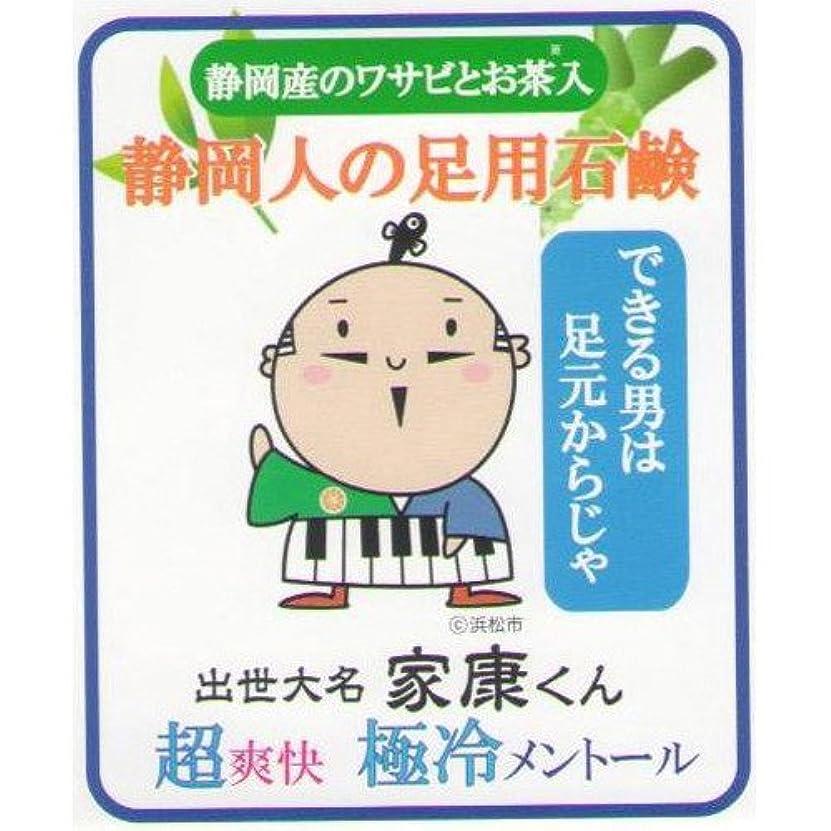 置き場悪用のために静岡人の足用石鹸 極冷メントール 60g ネット付き