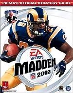Madden NFL 2003 - Prima's Official Strategy Guide de Prima Development