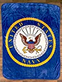 BLONDBERRY The Lakeside Collection 60x80 Plush Military Throws-Navy