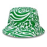 New Era Patterned Reverseable Bucket Ne Kgr Gorra, Unisex Adulto, Green, L