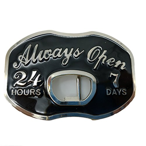 YONE HOURS DAYS Open Beer Bottle Opener Belt Buckle Boucle de ceinture