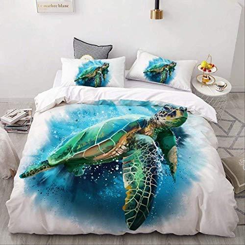 WGLG Double Bed Duvet Sets, 3D Bedding Sets Lovely Hedgehog Duvet Cover Bedding Home Textiles Comforter Set 3 Piece Set