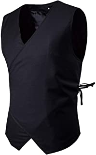 Men's Vests Waistcoat V Vest Neck Vests Stylish Modern Casual Slim Fit Jacket Men Casual Vests Men's Suit V-Neck