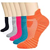 Eallco Womens Ankle Socks Athletic Running Cushioned Socks 6 Pairs