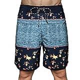 MLKUP Pantalones Cortos Elásticos De Secado Rápido para Hombres Impresión Surf Playa Natación Impermeable...
