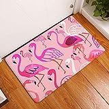 ZCMTD Teppich Flamingo Bedruckte Matte Türmatte Cartoon Druckmatte Bad Küche Bad Streifen Saugmatte 40X60Cm G