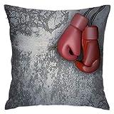 XCNGG Funda de Almohada Funda de cojín de Almohada para el hogar Ropa de Cama Throw Pillow Case, Boxing Pillow Cover, Decorative Pillowcase Square Cushion for Sofa Couch Car 18x18