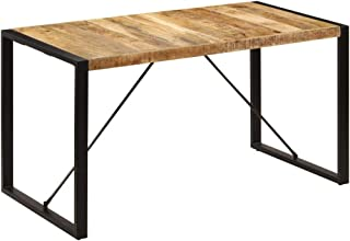 vidaXL Table de salle ¨¤ manger 140x70x75 cm Bois de manguier massif
