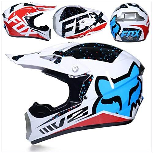 Dabobo Casco de Motocross Casco de moto de cara completa para adultos Hombres Mujeres Bicicleta de monta/ña Off Road Helmets Matte Red V1,M
