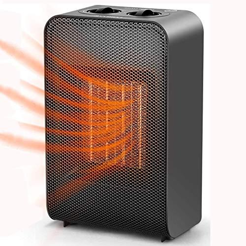 CXhome Mini radiateur soufflant à économie d'énergie en céramique avec chauffage rapide de 2 s, protection contre les basculement et la surchauffe, 3 modes, pour salle de bain, bureau, salon