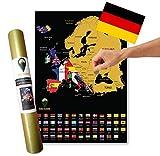 Global Walkabout DEUTSCH Europakarte zum Rubbeln - Europa