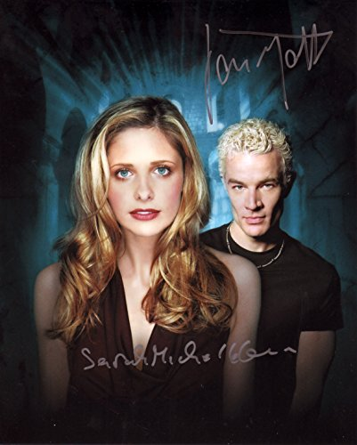 Buffy The Vampire Slayer - James Marsters & Sarah Michelle Gellar Signiert Autogramme 25cm x 20cm Foto