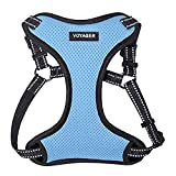 Voyager Step-In Flex Dog Harness - All Weather Mesh, Step In Adjustable Harness for Small and Medium Dogs by Best Pet Supplies - Baby Blue, Small