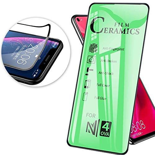 cofi1453 Schutzglas 9D Full Covered Keramik kompatibel mit Samsung Galaxy M21 (M215F) Premium Tempered Glas Displayglas Panzer Folie Schutzfolie Anti-Finger