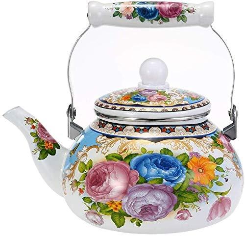 Gas Ketel - 2.5L Vintage Enamel huishouden ketel Tea Pot Gebruikt Geschikt for gas fornuis, inductie kookplaat - Kleine Retro Classic Design