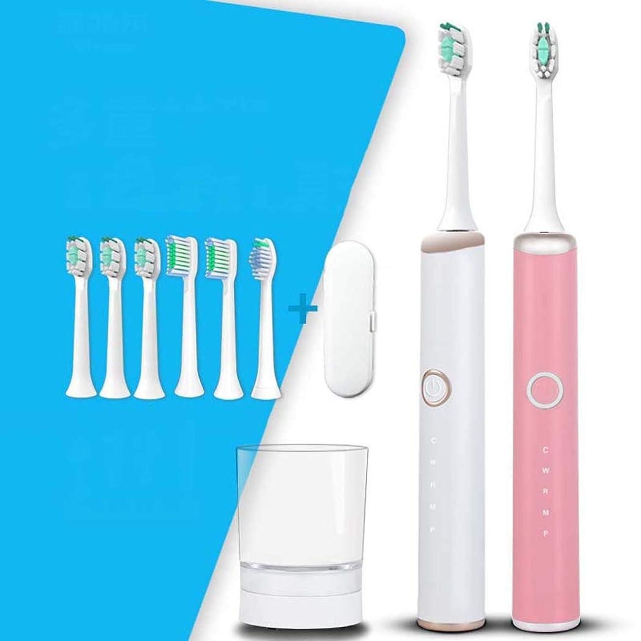平凡月曜日存在電動歯ブラシ、ソニック電動歯ブラシ、家庭用大人用自動歯ブラシ、ミュート防水、スマートワイヤレス誘導充電(カラー:ホワイト)