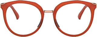 OX3238 Top Knot Cat Eye Metal Eyeglass Frames, Satin Amber/Demo Lens, 52 mm