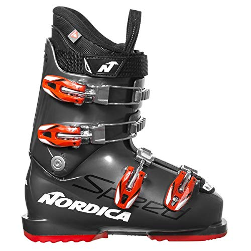 Nordica Speedmachine Team J Ski Boot - Kids' Grey/Red, 20.5