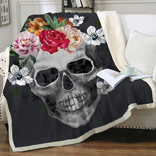 Sleepwish Sugar Skull Blanket - Soft Fleece