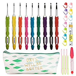 Ergonomic Crochet Hooks Kit with Case Giveaway