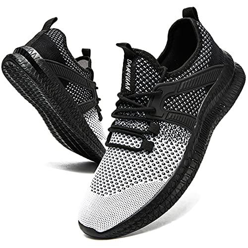 Zapatillas deportivas para hombre, zapatillas de deporte, zapatillas de correr, zapatillas ligeras, zapatillas de tenis para correr, zapatillas de fitness, caminar, correr, Todo negro., 41 EU