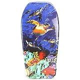 Lively Moments Bodyboard 94 cm / Body Board / Surfboard / Schwimmbrett mit 5 Schildkröten