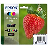 Epson 29 Serie Fragola, Cartuccia Originale Getto d'Inchiostro Claria Home, Formato Standard, Multipack 4 Colori, con Amazon Dash Replenishment Ready