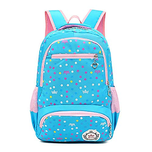 Tnaleve Girls' Backpack, Printed Backpack for Grades 3 to 6, School Bag for School or Travel, Primary, Secondary