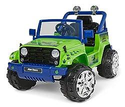 7. Kid Trax 4×4 Tracker Dinosaur Ride On