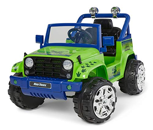 Kid Trax 4x4 Tracker Electric Ride On Toy, 3-5 Years Old, 6 Volt, Max Weight 60 lbs, Dino Tracker Green (KT1594AZ)