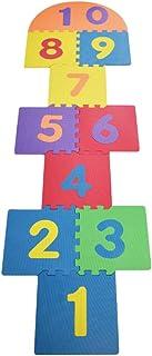 TOYANDONA 1 Set Kids Hopscotch Toys Sensory Training Jumping Lattice Game Hopscotch Teaching Puzzle Mat Birthday Gift for ...