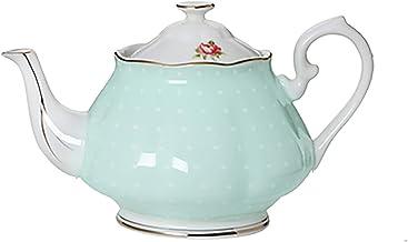 Theepot, Europese stijl theeset, vergulde rand handgemaakte theepot, koffiepot, voor geschenken/bruiloft/familie/hotel (15...