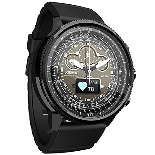 L.B.S Reloj Inteligente con Bluetooth para Hombre y Mujer, Pulsera de Fitness, Resistente al Agua, podómetro, Reloj recordatorio, Monitor de Ritmo cardíaco, Reloj Inteligente(D)