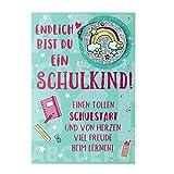 Sheepworld - 46586 - Klappkarte mit Reflektor, mit Umschlag, Schulanfang, Endlich bist Du ein Schulkind!