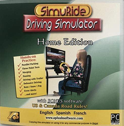 Driving Simulation and Road Rules Test Preparation - 2021 SimuRide Home Edition - Driver Education [Interactive DVD]