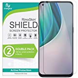 (2-Pack) RinoGear Screen Protector for OnePlus Nord N10 5G Case Friendly OnePlus Nord N10 Screen Protector Accessory Full Coverage Clear Film