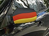 WM 2018 Fußball Fanartikel Deutschland Hochwertiges 2er Set Autoflagge Stabil Autospiegel Außenspiegel Auto Fahne Spiegel Spiegelüberzieher