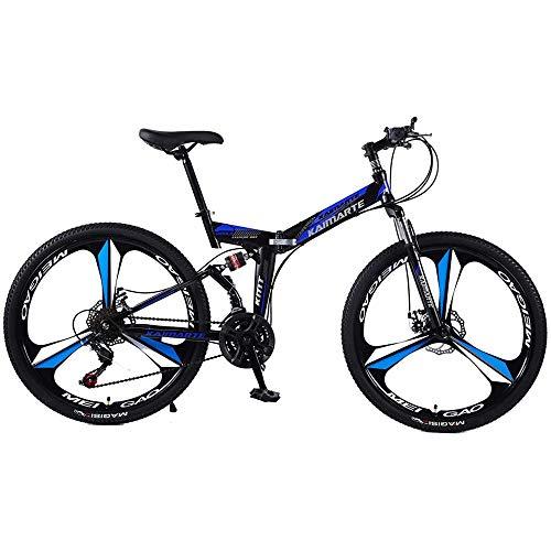ZFAME 24/26 Pulgadas Bicicleta Plegable de Aluminio de aleación de Bicicleta eléctrica...
