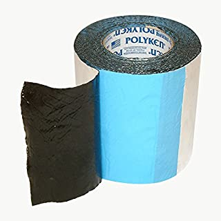 Polyken 360-45 Heavy Duty Foil/Butyl Rubber Tape, 45 mil Thick, 30' Length x 6