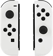 eXtremeRate Soft Touch Grip White Joycon Handheld Controller Housing with Full Set Buttons, DIY Replacement Shell Case for Nintendo Switch Joy-Con – Console Shell NOT Included