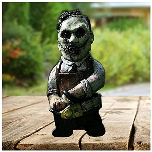 CHENGRR Scary Halloween Decorations, 5.9Inch Small Gnomes, for Indoor and Outdoor Desktop Lawn Courtyard Garden Yard Gnome