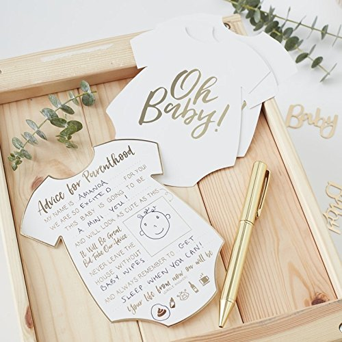 Amazon Com Baby Shower Games Baby Shower Ideas Oh Baby Advice Cards Pk 10 Health Personal Care