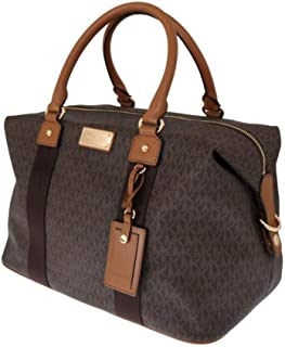 Jet Set Travel Signature Large Weekender/ Carry On Bag (Brown)