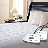 Holmes Premium Quilted Electric Heated Mattress Pad - Queen Size Auto Shut Off 5 Heat Settings