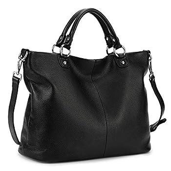 Kattee Women s Soft Genuine Leather Tote Bag Top Satchel Purses and Handbags …