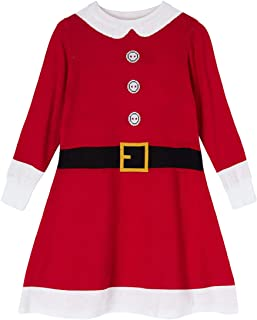 BFUSTYLE Girls Christmas Dress Elf Reindeer Snow Xmas Gift Winter Knit Sweater Dresses 4-8T