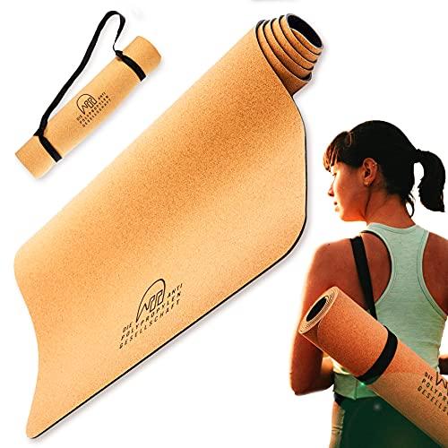Yogamatte KORKI inkl. 1€ für die Rettung der Meere, rutschfest, weich, Kork & Naturkautschuk, Fitnessmatte, Gymnastikmatte, nachhaltig, 183 x 61 x 0,4